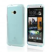 Baby Blue/ Frosted Matte Crystal Silicone Skin Case for HTC One