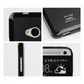 Black CellLine Matte Crystal Silicone Skin Case for HTC One