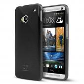 Black CellLine Crystal Silicone Skin Case for HTC One