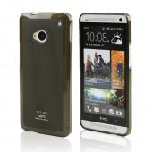 Smoke/ Frosted CellLine Matte Crystal Silicone Skin Case for HTC One