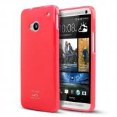 Hot Pink Crystal Silicone Skin Case for HTC One