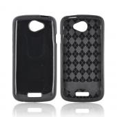 HTC One S Crystal Silicone Case - Argyle Black