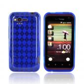 HTC Rhyme Crystal Silicone Case - Argyle Blue