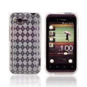 HTC Rhyme Crystal Silicone Case - Argyle Clear