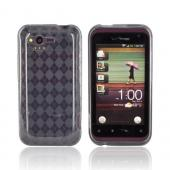 HTC Rhyme Crystal Silicone Case - Argyle Smoke