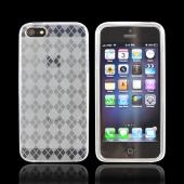 Apple iPhone 5/5S Crystal Silicone Case - Argyle Clear