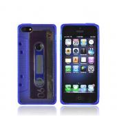 Apple iPhone 5/5S Crystal Silicone Case - Blue Cassette