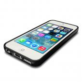 Black Anti-Slip TPU Crystal Silicone Skin Case & Free Screen Protector for Apple iPhone 5C