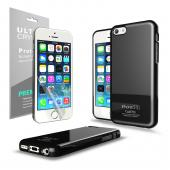 Black CellLine Anti-Slip TPU Crystal Silicone Skin Case & Free Screen Protector for Apple iPhone 5C