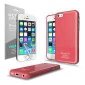 Baby Pink  Anti-Slip TPU Crystal Silicone Skin Case & Free Screen Protector for Apple iPhone 5C