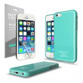 Mint CellLine Anti-Slip TPU Crystal Silicone Skin Case & Free Screen Protector for Apple iPhone 5C