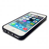 Navy CellLine Anti-Slip TPU Crystal Silicone Skin Case & Free Screen Protector for Apple iPhone 5C