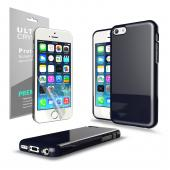 Navy Anti-Slip TPU Crystal Silicone Skin Case & Free Screen Protector for Apple iPhone 5C