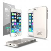 Solid White Anti-Slip TPU Crystal Silicone Skin Case & Free Screen Protector for Apple iPhone 5C