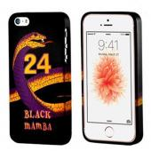 Black Mamba Purple/ Gold Snake on Black Crystal Silicone Case for Apple iPhone 5/5S - XXIP5