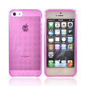 Apple iPhone 5/5S Crystal Silicone Case - Transparent Pink
