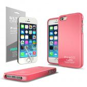 Baby Pink  Anti-Slip TPU Crystal Silicone Skin Case + Free Screen Protector for Apple iPhone 5/5S