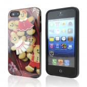 Happy Gingerbread Christmas Cookies IMD Crystal Silicone Skin Case For Apple iphone 5/5s