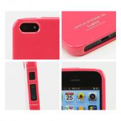 Candy Apple Red Anti-Slip Shimmer TPU Crystal Silicone Skin Case + Free Screen Protector for Apple iPhone 5/5S