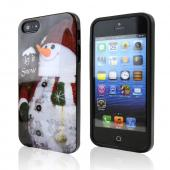 Let it Snow Happy Snowman Christmas IMD Crystal Silicone Skin Case for Apple iPhone 5/5S