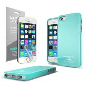 Mint Anti-Slip TPU Crystal Silicone Skin Case + Free Screen Protector for Apple iPhone 5/5S
