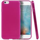 "Hot Pink/ Frost Apple iPhone 6 (4.7"") Flexible Crystal Silicone TPU Case - Conforms To Your Phone Without Stretching Out!"