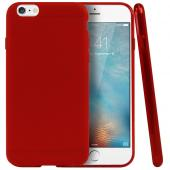 "Red/ Frost Apple iPhone 6 (4.7"") Flexible Crystal Silicone TPU Case - Conforms To Your Phone Without Stretching Out!"