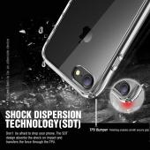 Apple iPhone 7 (4.7 inch) Case, REDshield [Black] Slim & Flexible Anti-shock Crystal Silicone Protective TPU Gel Skin Case Cover
