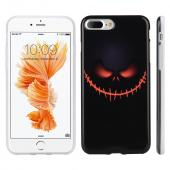 Apple Phone 7 Plus (5.5 inch) Case, Slim & Flexible Anti-shock Crystal Silicone Protective TPU Gel Skin Case Cover [Black Pirate Face]