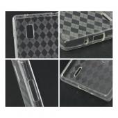 Argyle Clear Crystal Silicone Case for LG Optimus G (AT&T)