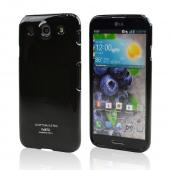 Black CellLine Crystal Silicone Skin Case for LG Optimus G Pro