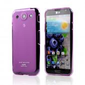 Hot Pink/ Frosted CellLine Matte Crystal Silicone Skin Case for LG Optimus G Pro