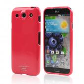 Hot Pink  Crystal Silicone Skin Case for LG Optimus G Pro