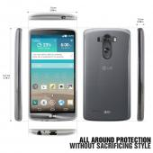 REDshield LG G3 Clear/ Frosted Matte Crystal Silicone TPU Skin Case w/ Free Screen Protector - Conforms To Your Phone Without Stretching Out!