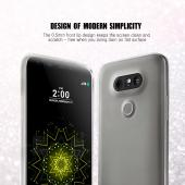 LG G5 Case, [Black] Slim & Flexible Anti-shock Crystal Silicone Protective TPU Gel Skin Case Cover
