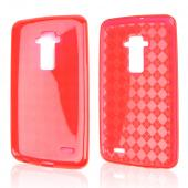 Red Argyle Crystal Silicone Skin TPU Skin Case for LG G Flex [AT&T, Sprint,T-Mobile]