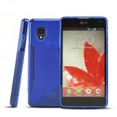 Blue S Crystal Silicone Case for LG Optimus G (Sprint)