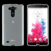 Clear/ Frost LG G Vista Flexible Crystal Silicone TPU Case - Conforms To Your Phone Without Stretching Out!