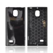 LG Optimus VS930 (Optimus LTE II) Crystal Silicone Case - Black w/ Hex Star Interior