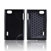 LG Optimus Vu VS950 Crystal Silicone Case - Black (Hex Star Interior)