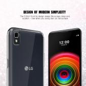 LG X Power Case, REDshield [Black] Slim & Flexible Anti-shock Crystal Silicone Protective TPU Gel Skin Case Cover