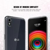 LG X Power Case, REDshield [Clear] Slim & Flexible Anti-shock Crystal Silicone Protective TPU Gel Skin Case Cover