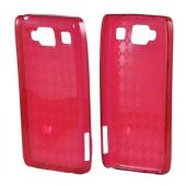 Motorola Droid RAZR MAXX HD Crystal Silicone Case - Argyle Red
