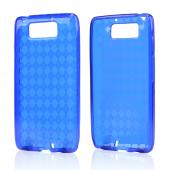 Argyle Blue Crystal Silicone Skin Case for Motorola Droid Ultra/ Droid MAXX