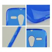 Blue Crystal Silicone Skin Case for Motorola Moto G