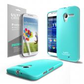 Mint CellLine Anti-Slip TPU Crystal Silicone Skin Case & Free Screen Protector for Motorola Moto X