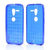 Argyle Blue Crystal Silicone Skin Case for Motorola Moto X