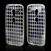 Argyle Clear Crystal Silicone Skin Case for Motorola Moto X