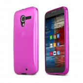 Argyle Purple Crystal Silicone Skin Case for Motorola Moto X