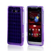 Motorola Droid RAZR M Crystal Silicone Case - Argyle Purple